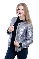 Женская куртка-бомбер на холлофайбере