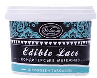 Кружева кондитерские Бирюзовые Criamo Edible Lace, 100 грамм