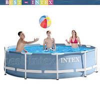 Intex 28700 Голубой (305-76 см.) Круглый каркасный бассейн Metal Frame Pool, фото 1