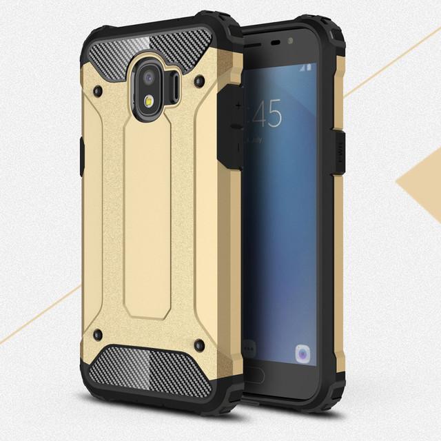 чехол на Samsung Galaxy J2 2018 накладка противоударный золотистый