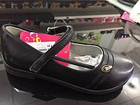 Детские чёрные туфли девочек оптом Размеры 26-31