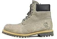 Зимние ботинки Timberland Grey, мужские ботинки с искусственным мехом