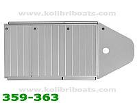 Пайол алюминиевый с стрингерами КМ-360DSL (настил, стрингера, сумка)