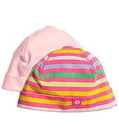 Детские шапочки для девочки (2 шт). 2-6, 6-12, 12-24 месяца