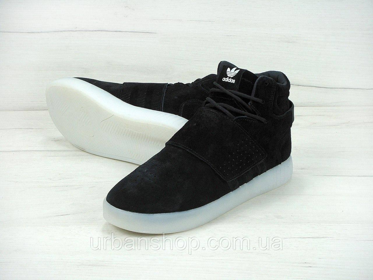 ... Мужские кроссовки Adidas Tubular Invader Strap Shoes Black Ice White 979bd7e15