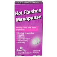 Приливы Менопауза 60  таб гомеопатическое средство для лечения симптомов климакса NatraBio USA