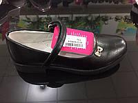 Детские чёрные туфли в школу для девочек оптом Размеры 31-36