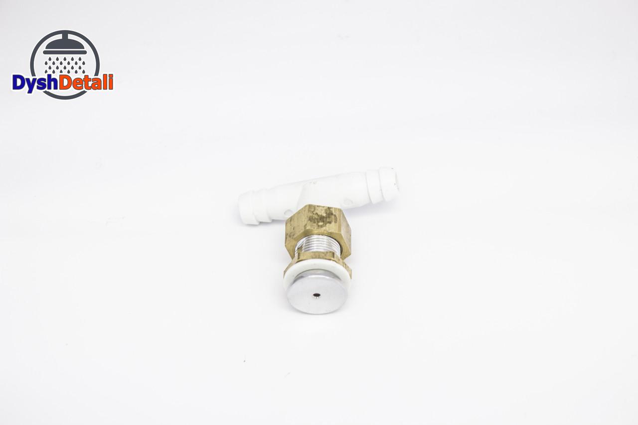 Форсунка для душевой кабины, прямая, хромированная, ( Ф-019 ) металл