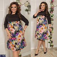 Платье (48-50, 52-54, 56-58) —костюмка  купить оптом и в розницу в одессе  7км