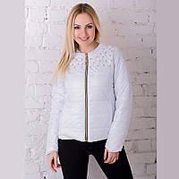 Женская демисезонная куртка Irvik ZK20-134 белая