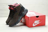 Кроссовки мужские Найк Nike Air Huarache High Top Brown, фото 1