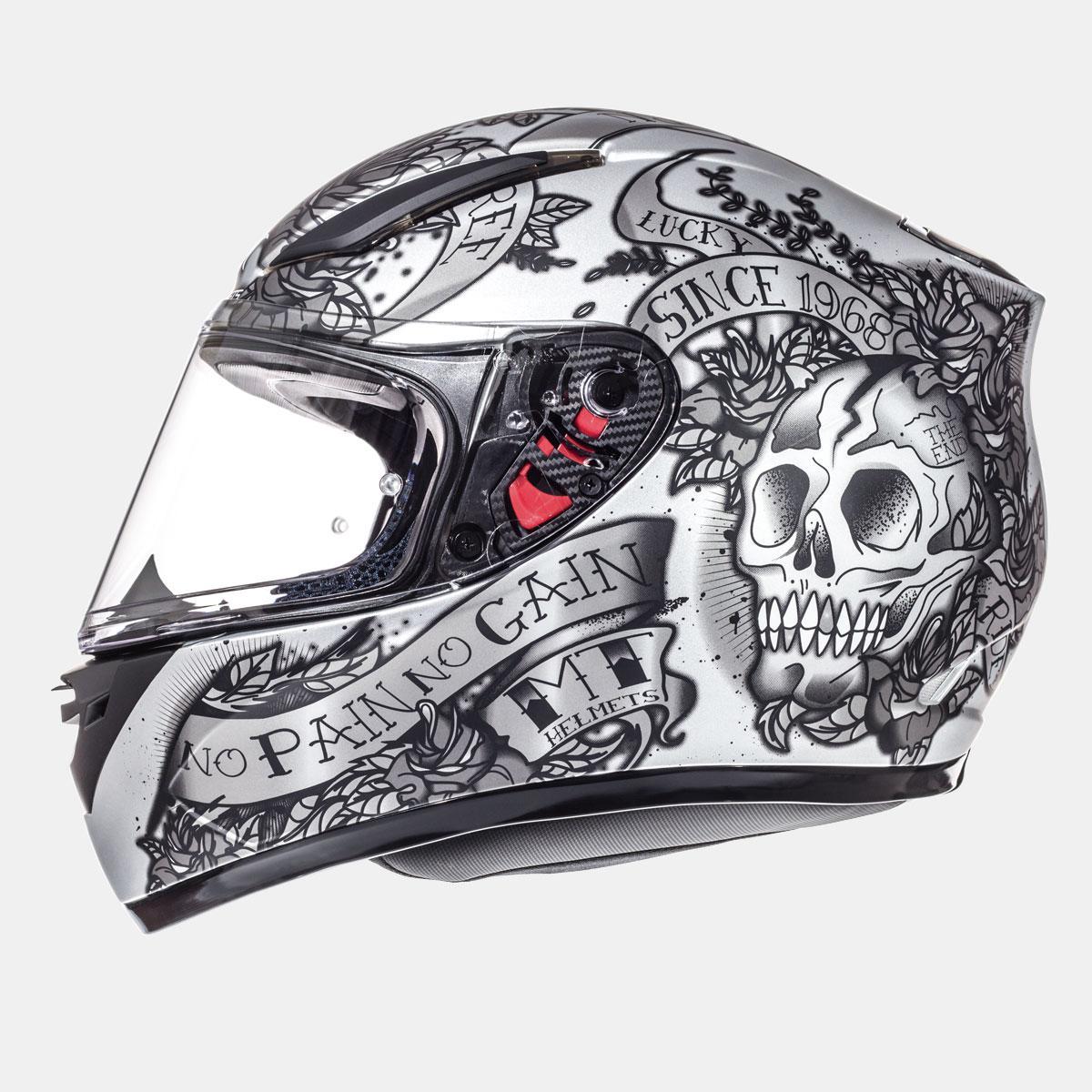 Мотошлем MT Revenge Skull & Rose Black