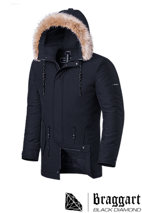 Мужская зимняя куртка с мехом Braggart Black Diamond  (р. 46-56) арт. 3781 H, фото 2