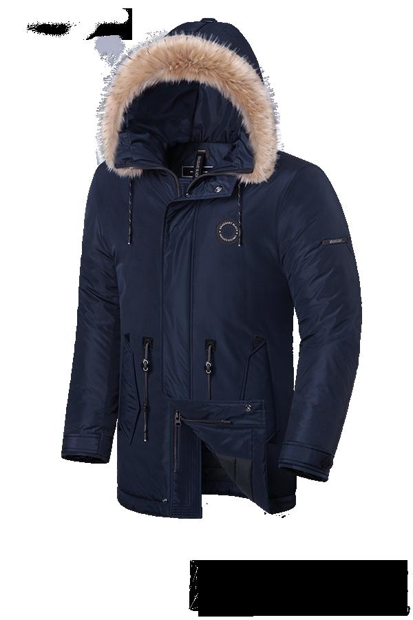 Мужская зимняя куртка с мехом Braggart Black Diamond  (р. 46-56) арт. 3465 M