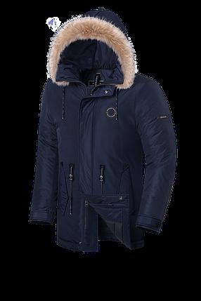 Мужская зимняя куртка с мехом Braggart Black Diamond  (р. 46-56) арт. 3465 M, фото 2