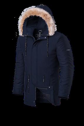 Мужская зимняя куртка с мехом Braggart Black Diamond  (р. 46-56) арт. 3781 G, фото 2