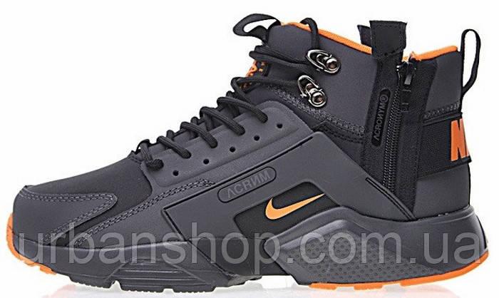 Кроссовки мужские Найк ACRONYM x Nike Air Huarache CITY MID LEA