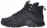 "Кроссовки мужские Найк ACRONYM x Nike Huarache X Acronym City MID Leather ""All Black"", фото 1"