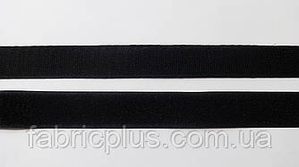 Липучка  текстил. 2,5 см  черная (001)