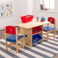 Дитячий столик з шухлядами та двома стільцями Kidkraft 26912, фото 1