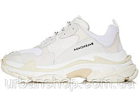 Кроссовки женские Balenciaga Triple S White баленсиага белые