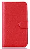 Кожаный чехол-книжка для Sony Xperia Z2 L50 D6502 D6503 D6543 красный