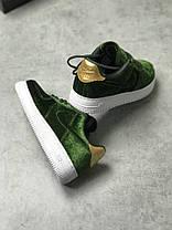 """Кроссовки Nike Air Force 1 """"Plush Velvet Green"""", фото 3"""