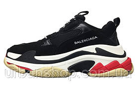 Кросівки жіночі Balenciaga Triple S Black/White/Red баленсиага