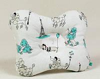 Ортопедическая подушка для новорожденных BabySoon Париж размер 22 х 26 см (134)