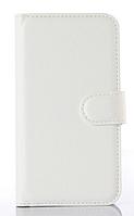 Кожаный чехол-книжка для Sony Xperia Z2 L50 D6502 D6503 D6543 белый
