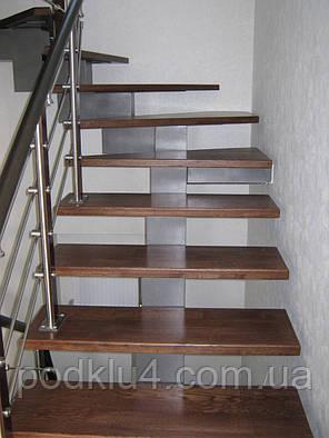 Лестницы внутридомовые на ступенчатом косоуре, фото 2