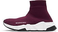Кросівки жіночі BALENCIAGA Speed Runners burgundy баленсиага жіночі