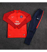 Детский футбольный костюм ПСЖ, сезон 17-18 (красный)