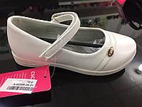 Детские белые школьные туфли для девочек оптом Размеры 26-31