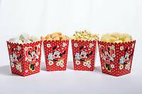 """Коробочка """"Минни Маус"""" для сладостей и попкорна, 5 шт/уп."""