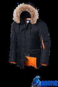Мужская черная куртка Braggart Arktic (р. 48-58) арт. 4576 R