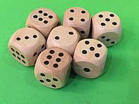 Кубик игральный деревянный 16 х 16 мм