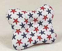Детская подушка ортопедическая бабочка BabySoon Морские звёзды 22 х 26 см (143)