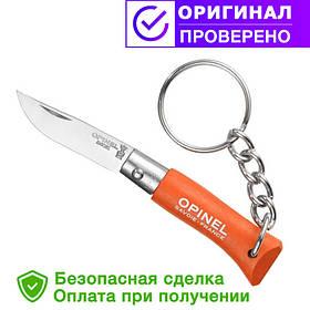 Нож брелок Opinel (опинель) Inox Pop brelok Tangerine orange No.2 (001429)