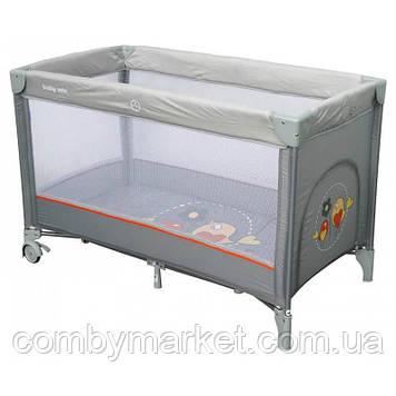 Манеж-кровать Baby Mix Воробушки HR-8052 Серый