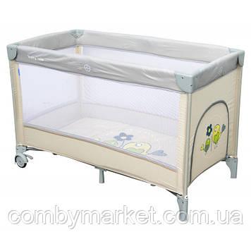 Манеж-кровать Baby Mix Воробушки HR-8052 Бежевый
