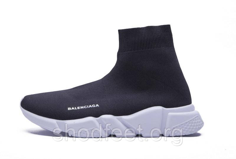 Мужские кроссовки Balenciaga Speed Trainer Black/White