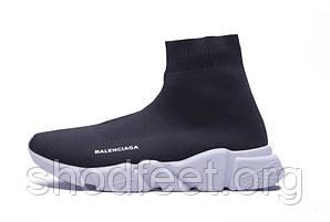 Мужские кроссовки Balenciaga Speed Trainer Black/White
