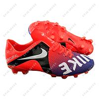 Бутсы (копы) Nike Mercurial CR7 Orange FB180019 (р-р 40-45, оранжево-фиолетовый)