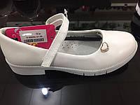 Детские белые туфли для девочек оптом Размеры 31-36