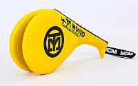 Ракетка (хлопушка) для тхеквандо двойная желтая