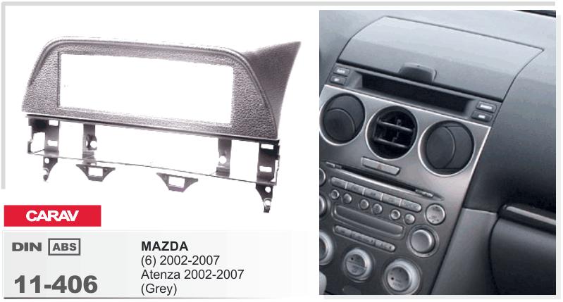 переходная рамка для автомагнитолы в автомобиль mazda atenza 2002-2007