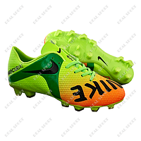 Бутсы (копы) Nike Mercurial CR7 Green FB180018 (р-р 36-41, салатово-оранжевый)