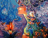 Картины по номерам 40×50 см. Моя леди Единорог Художник Жозефина Уолл