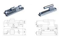 Петли бортовые для полуприцепов, 120 мм